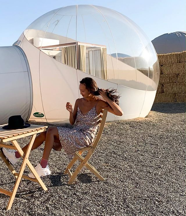 Left the OC bubble for another bubble... #camperahotel #camperahotelburbuja #hotelburbuja #valledeguadalupe #GLAMPING 🔮🔮🔮🔮🔮