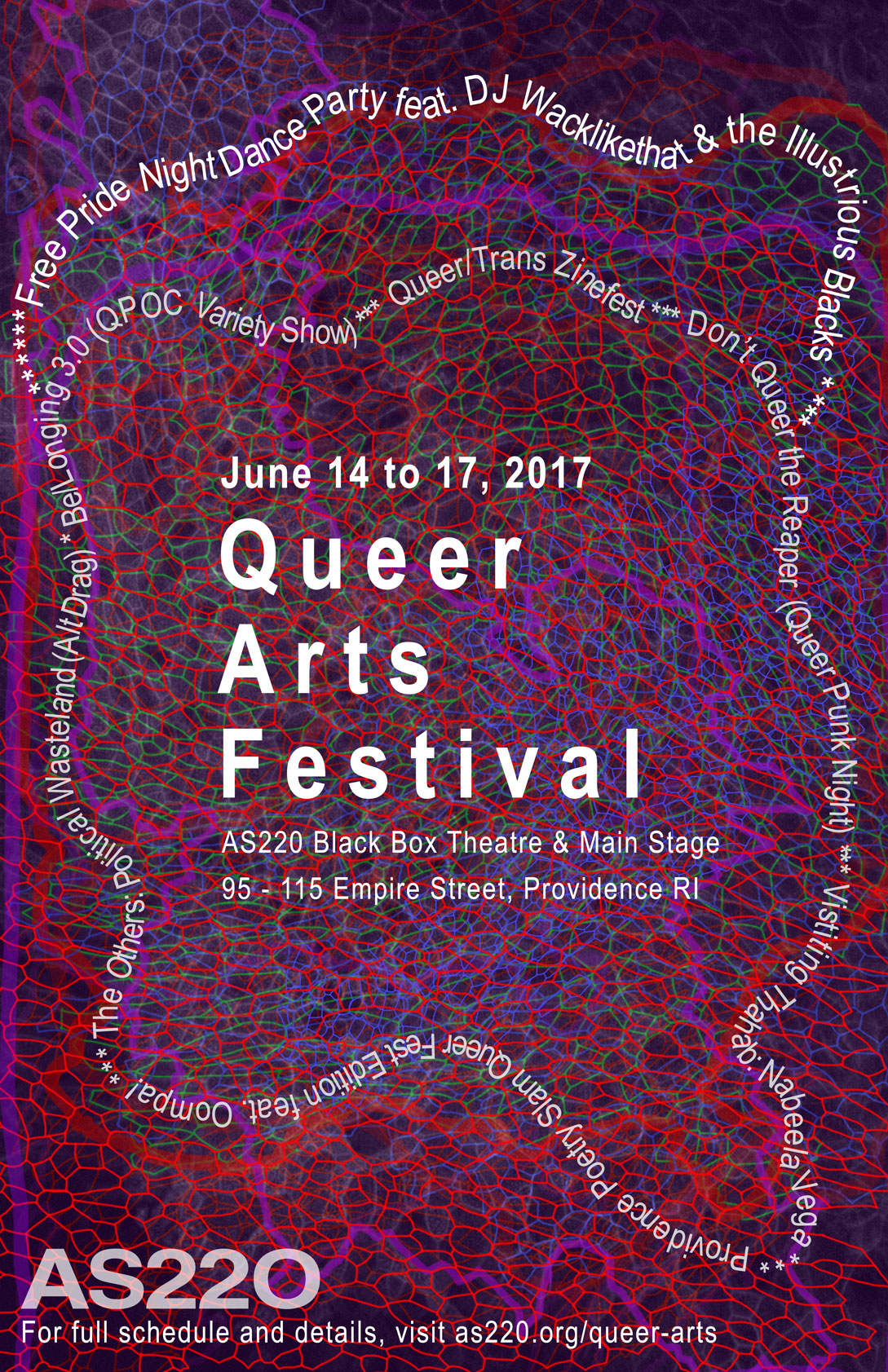 AS220 Queer Arts Festival Poster 2017