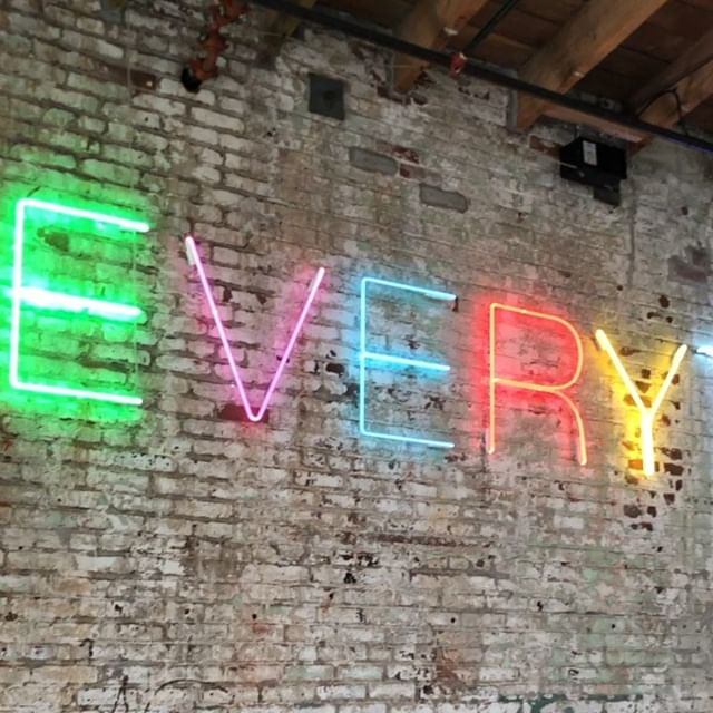 "🌈 ""Everything is going to be alright."" — #dtla #artsdistrict #artsdistrictla #dtlaartsdistrict #downtownla #losangeles #art #hauserwirth #neon #neonart #motivationalquotes"