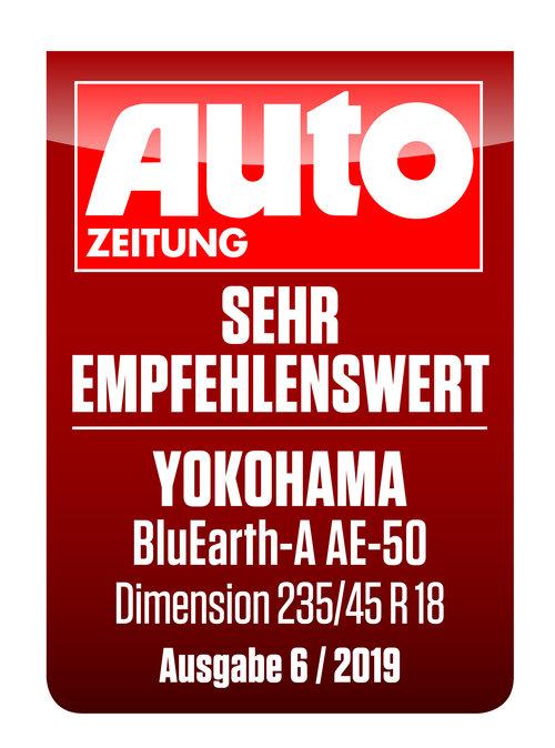 AUTO ZEITUNG BluEarth-A AE-50 YOKOHAMA Sommerreifen sehr empfehlenswert 2019
