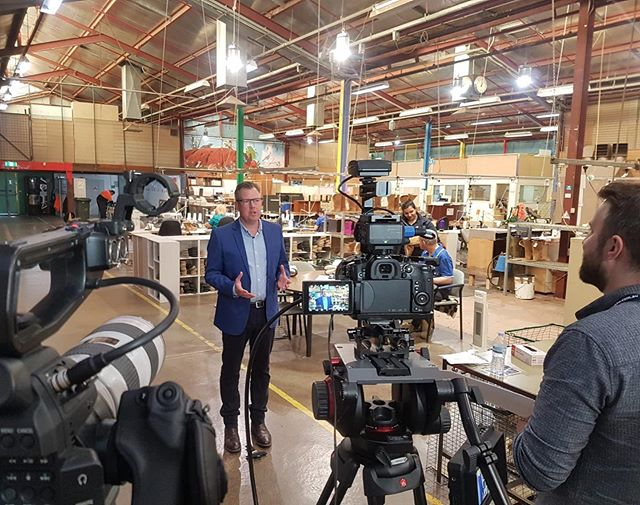 Shooting a case study video today for @deloitte and @google with their client @westhavenltd in Dubbo. Amazing to get a glimpse into the great work they're doing in the social sector 🙌🏼 #ndis  #digitaltransformation