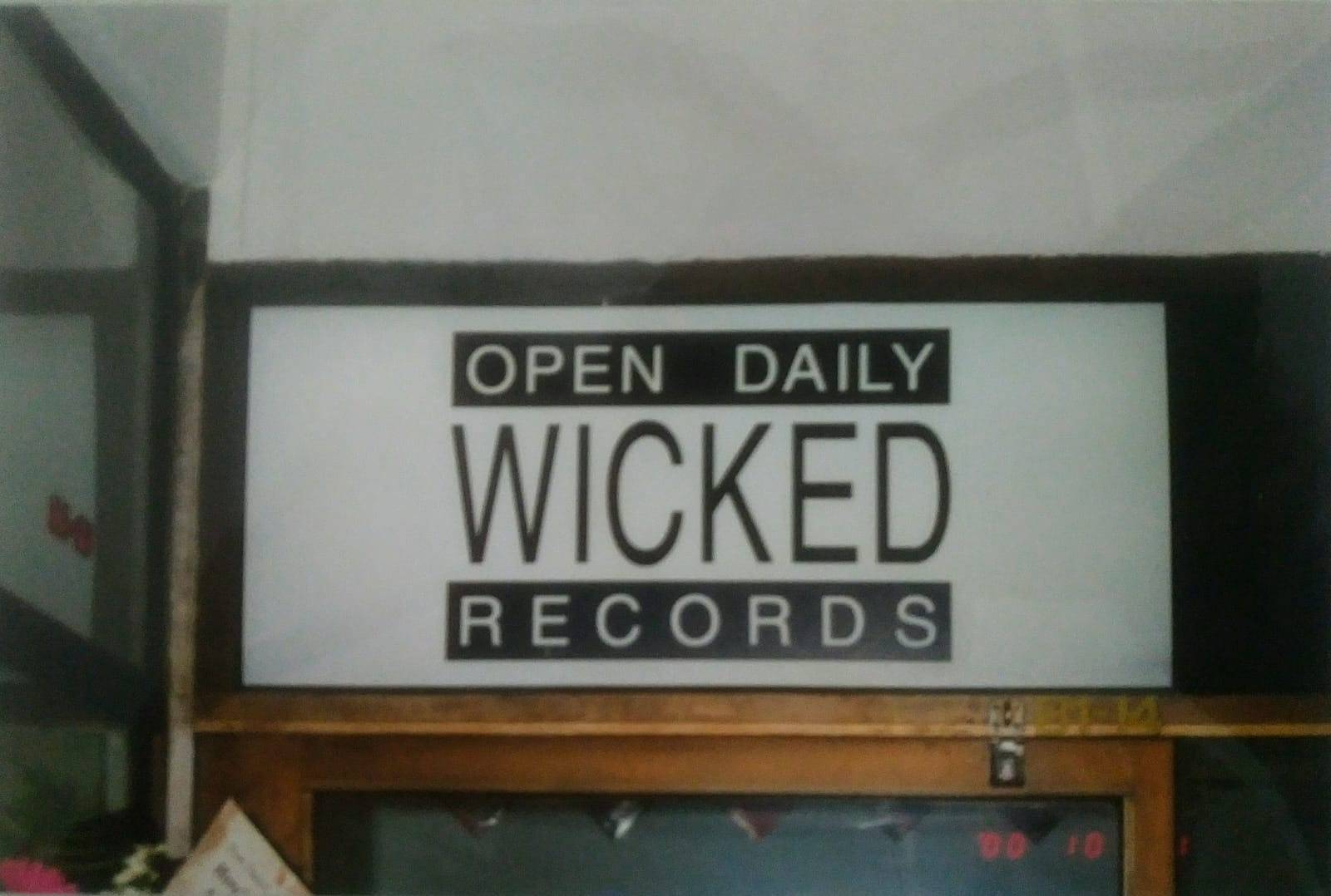 Wicked Records Signage
