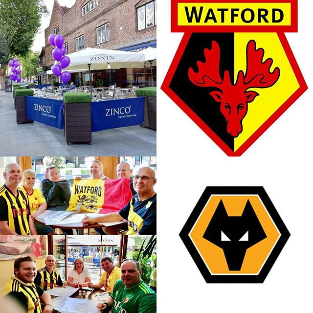 Watford FC take on Wolverhampton Wanderers FC this coming Saturday at Vicarage Road Stadium Watford! Come and see us at Zinco's on The Parade and enjoy a truly authentic, delicious Italian meal. Buon Appetito! #watford #wolverhampton #wfc #wwfc #thehornets #thedingles #watfordforyou #vicarageroad #italianrestaurant #pizzeria #sports #buonappetito #familyrun #authentic #premierleague #football #footballfans #weekend #saturday #soccer #wolves #yellowarmy #goodfood #italianfood