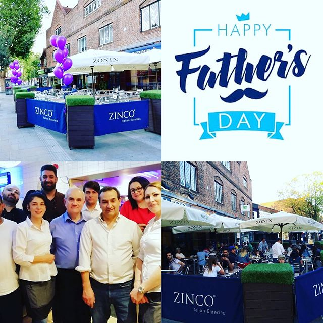 Don't forget the Dad's!!! Father's Day this Sunday the 16th!! Why not come and celebrate it at Zinco's in the Parade Watford!! Bookings now being taken on tel. 01923 222888 or on our booking page at www.zincorestaurants.co.uk.  Buon Appetito!! #watford #fathersday #sunday #celebrate #italianrestaurant #pizzeria #goodfood #wfc #hertfordshire #london #weekend