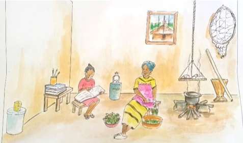An illustration from the Liberia edition of our Peer Guide.