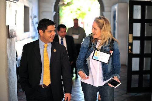 Congressman Raul Ruiz and TEDMED Chief Operating Officer Shirley Bergin.  Photo credit: Jarod Harris