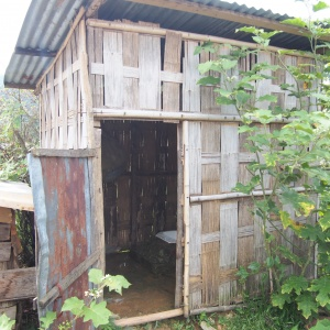 A government-built latrine.