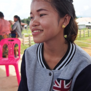Noy, whose name means 'small' in Lao language, has helped to trigger big changes in her community in southern Lao PDR. Photograph by Cecile Lantican, Ph.D.