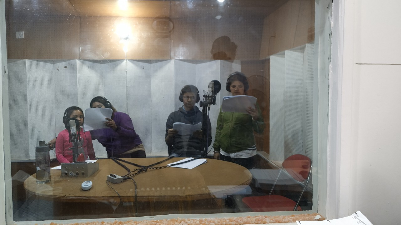 Voice artists record Public Service Announcements for Another Option in Nepal.
