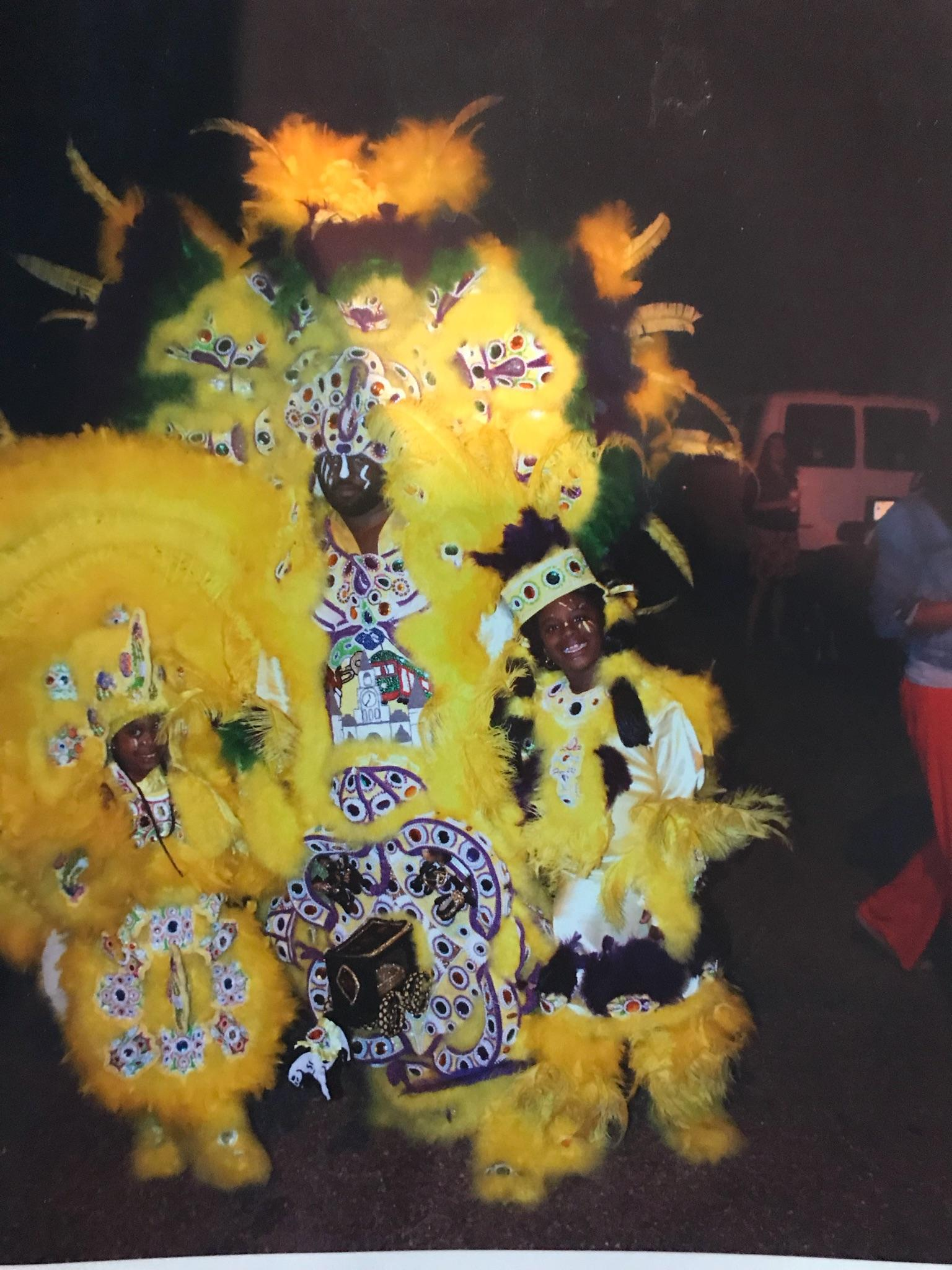 Big Chief Keelian Boyd, and his daughter  Lil Queen Karlei Boyd, and Lil Queen Jaiya .jpg