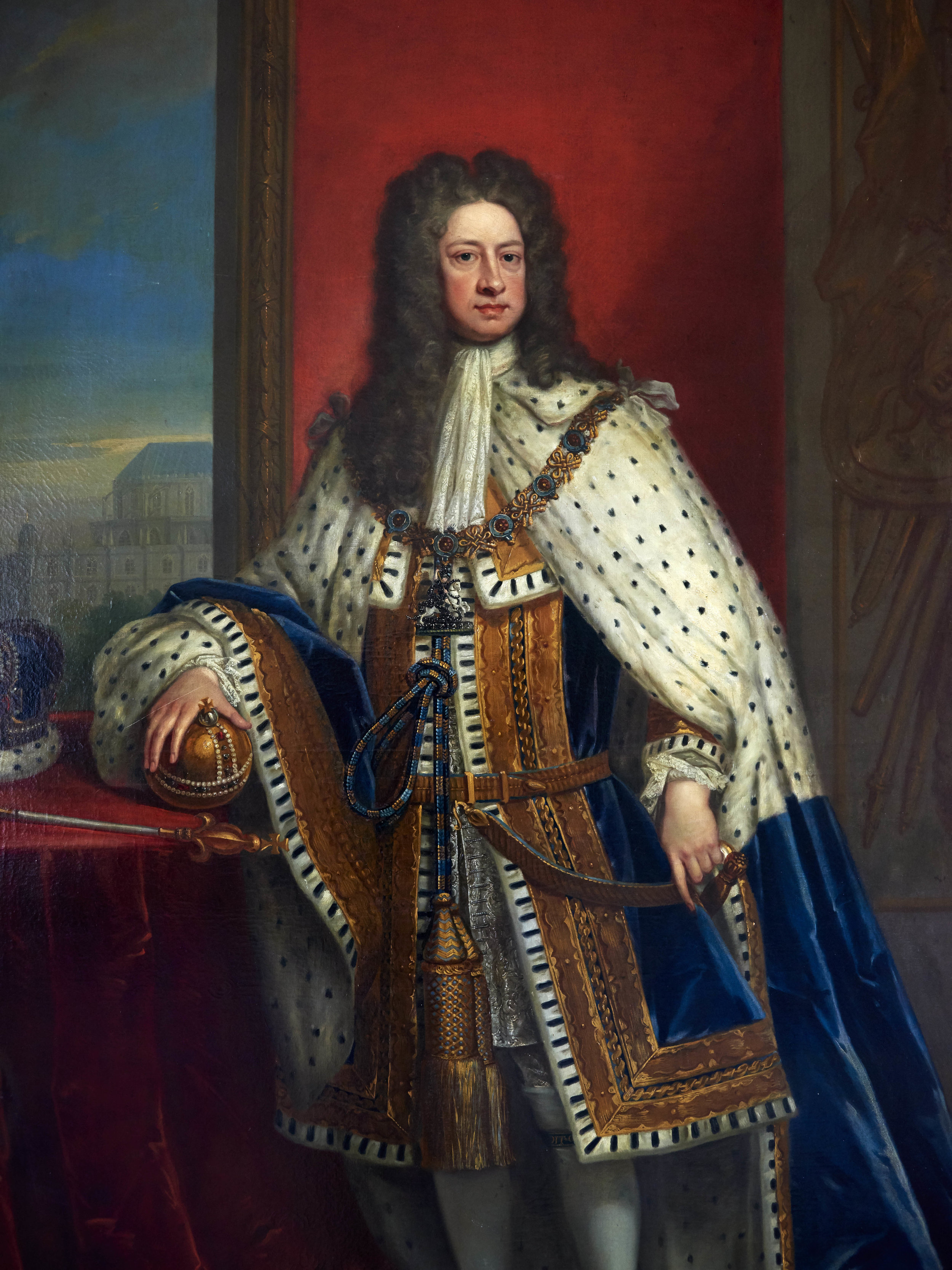 The portrait of King George I, given by his Majesty to Horatio, along with other portraits of the royal family, still hangs in the state dining room at Wolterton.