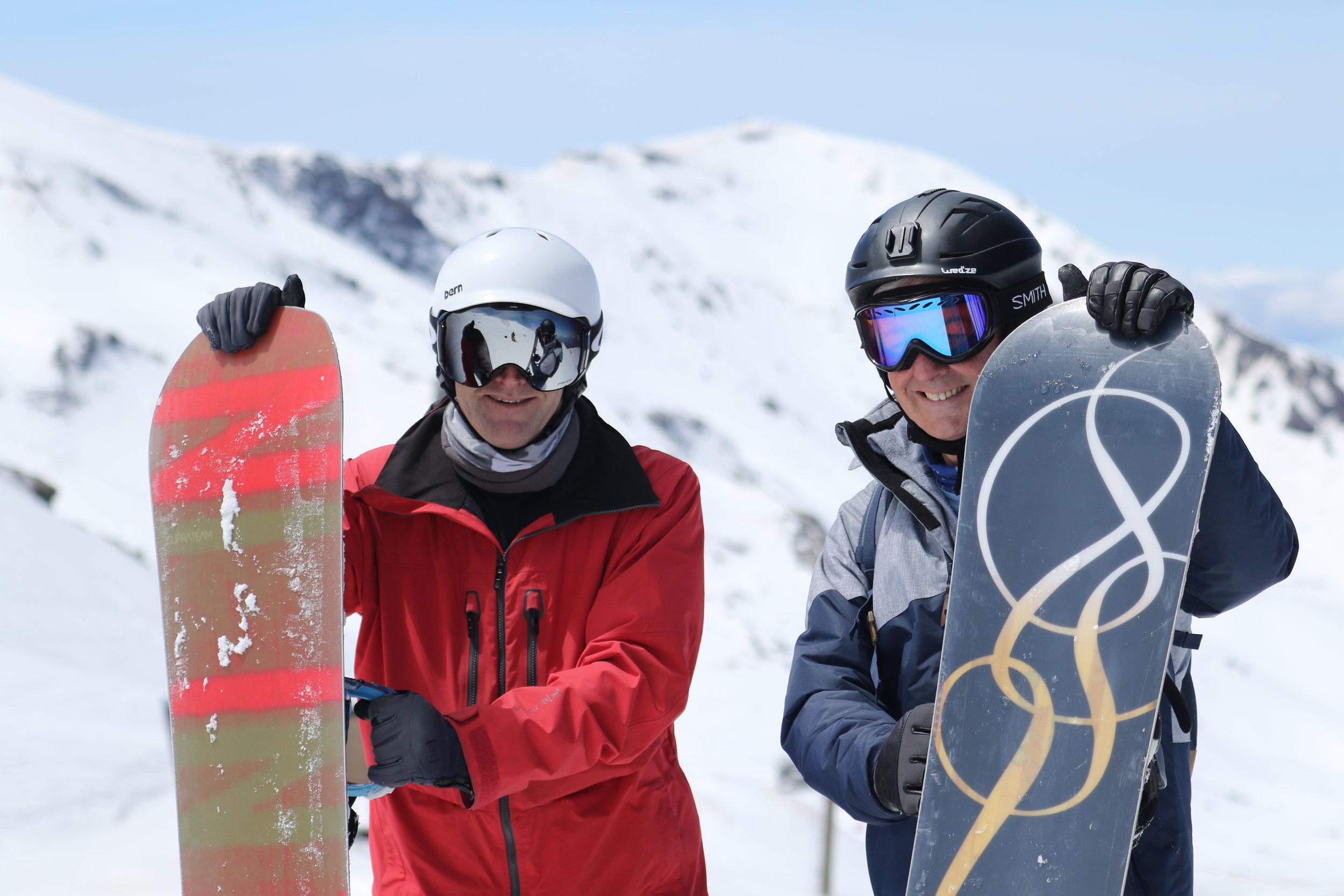 English Ski School Snowboarders