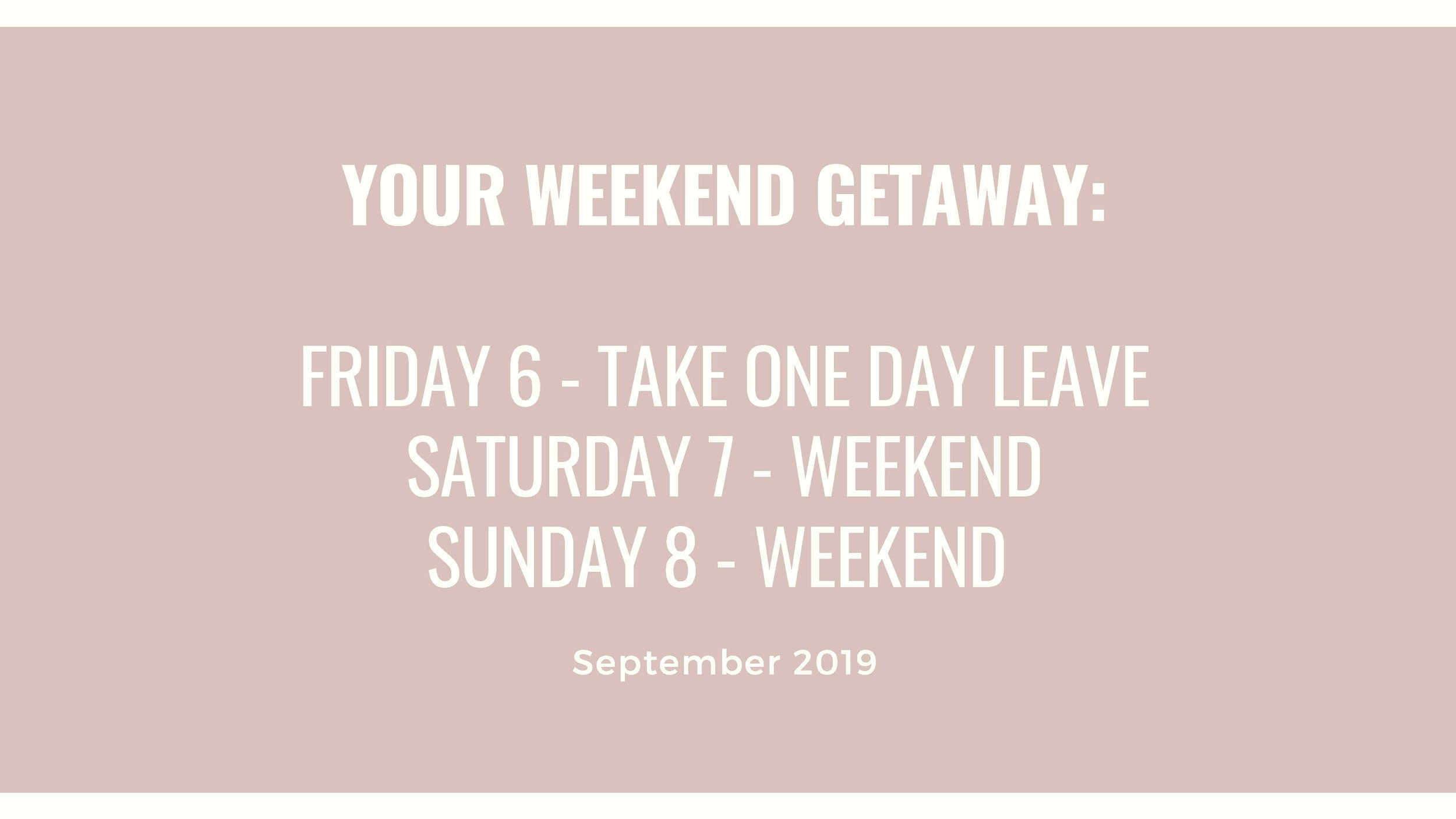 September weekend retreat