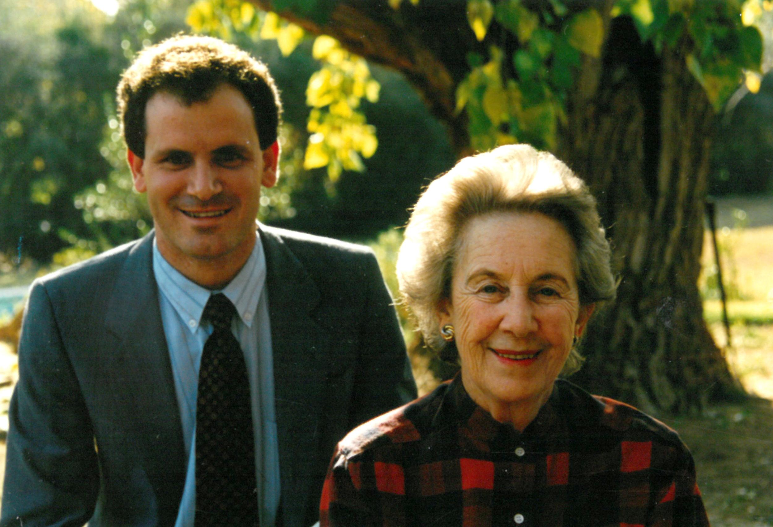 James with Helen Suzman