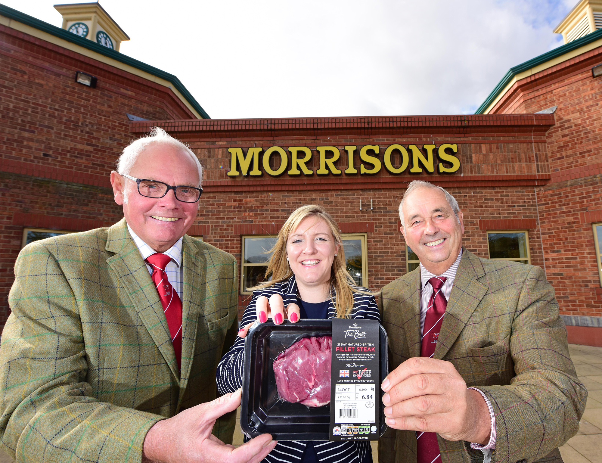 Shorthorn Beef launch, Geoff Riby, Milly Fyfe and Frank Milnes