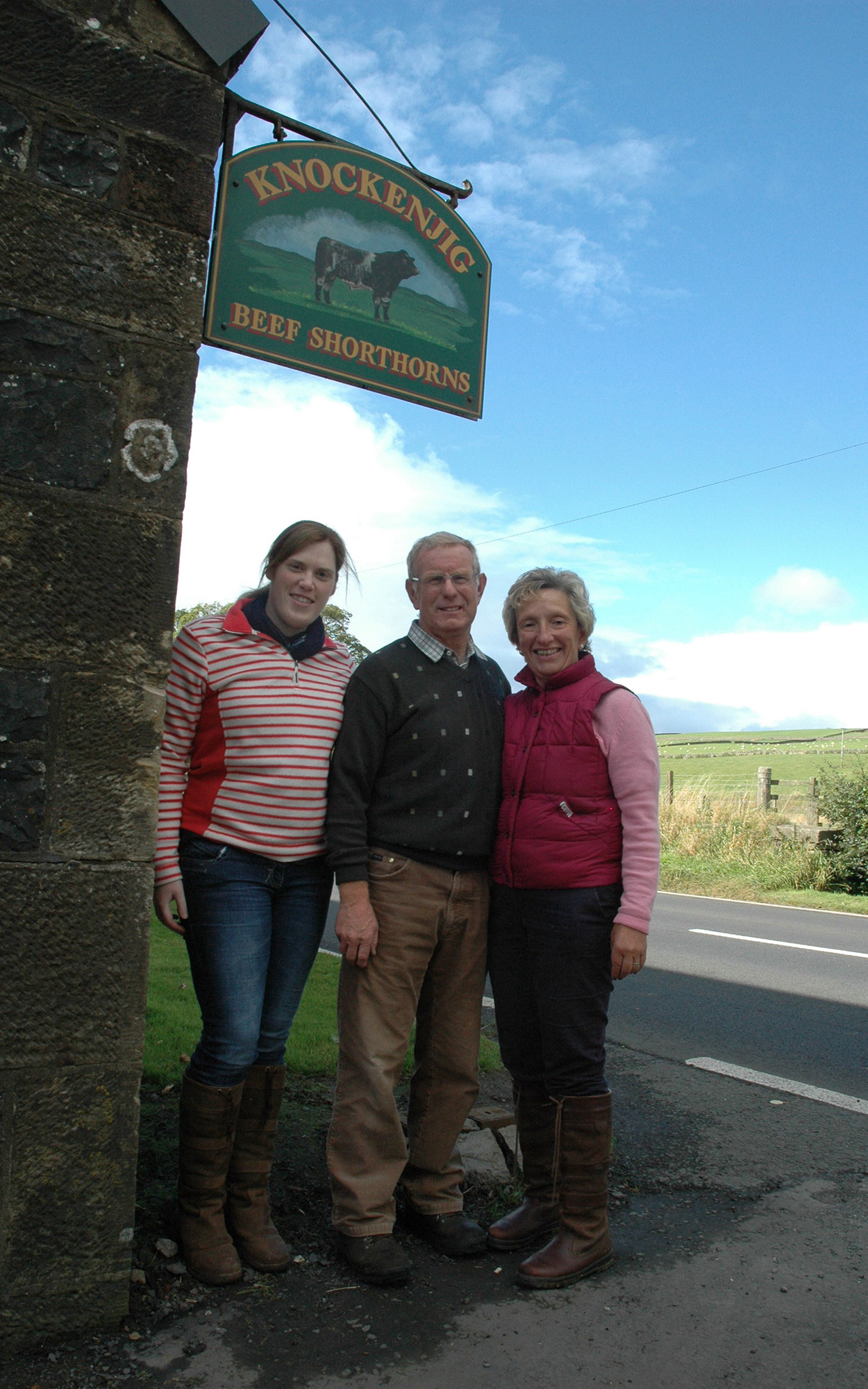 David and Rosemary Dickie with their daughter, Catriona
