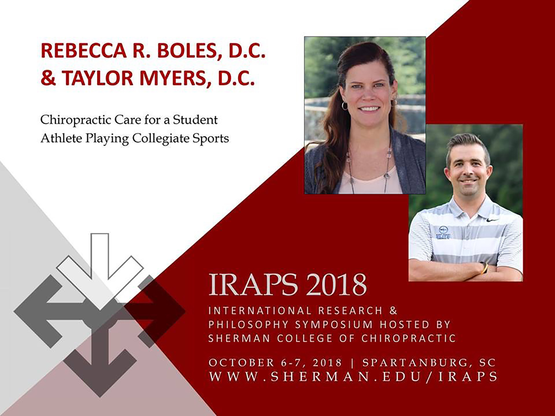 IRAPS 2018 - Chiropractic Care for a Student Athlete Playing Collegiate Sportshttp://www.cvent.com/events/iraps-2018/event-summary-830a3dc156c749ed9322de0326bc3df0.aspx
