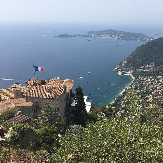 A photo from the peak of Eze Village taken yesterday. The mayor of the time, with the assistance of Jean Gastaud founder of the Monaco Exotic garden, decided to create an exotic garden here too.  We loved walking around this place and amazing views as well as a lovely lunch! #Eze #frenchriviera #cotedazur #exoticgardeneze
