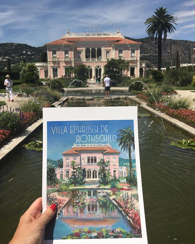 A return visit to Villa Ephrussi Rothschild in St Jean Cap Ferrat. Still as beautiful as I remember it. #villaephrussiderothschild #stjeancapferrat #cotedazur #frenchriviera @villaephrussi