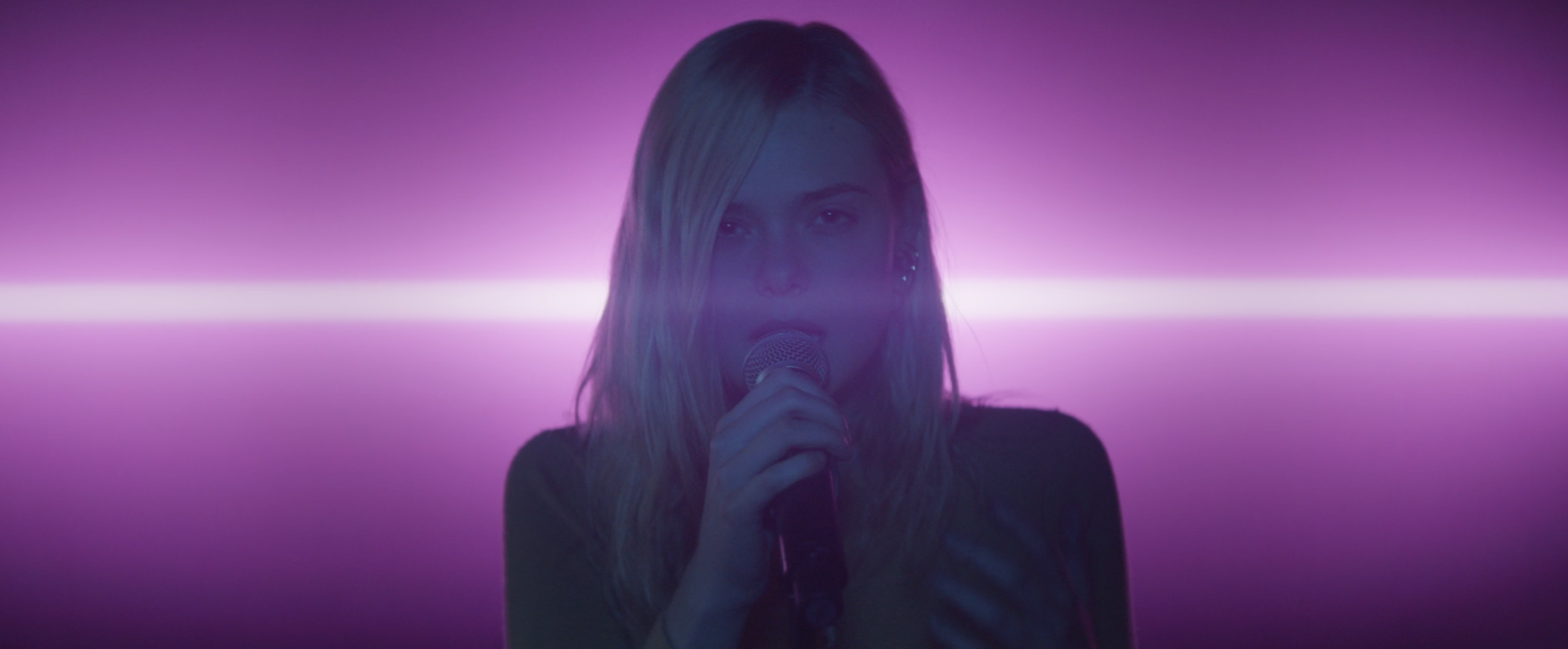 A sample of the neon vibe in Teen Spirit with Elle Fanning, photo courtesy of LD Entertainment and Bleecker Street