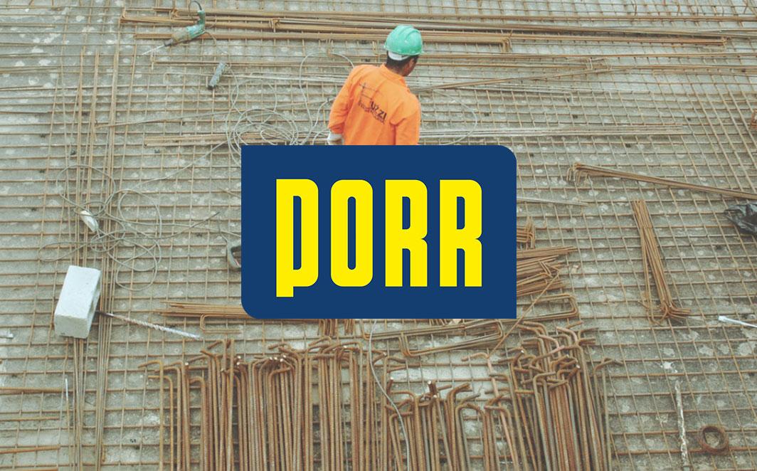 Bauarbeiten - Als Hauptsponsor des Bienenhofes übernimmt die PORR AG einen Teil der Bauarbeiten selbst.