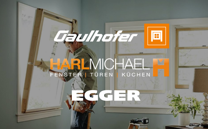 Fenster & Türen - Der Zusammenschluss von Michael Harl aus Großgmain, Gaulhofer Fenster und EGGER Glas sponsort einen Großteil aller Fenster und Türen von Neu- und Altbau am Bienenhof. Es werden ausschließlich hochwertige Holzfenster aus eigener Produktion verbaut.