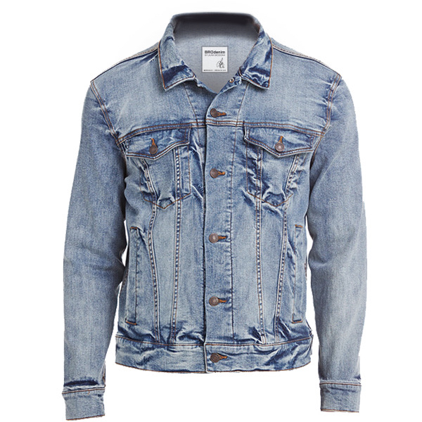 Denim Jacket - Outer shell of 100% nylon satin * Lined with 100% polyester brushed tricot * Woven label * Snap front * Raglan sleeves for maximum mobility * Striped rib-knit collar cuffs and bottom band * Front pockets * Water-resistant Available inAdult (XS-3XL)