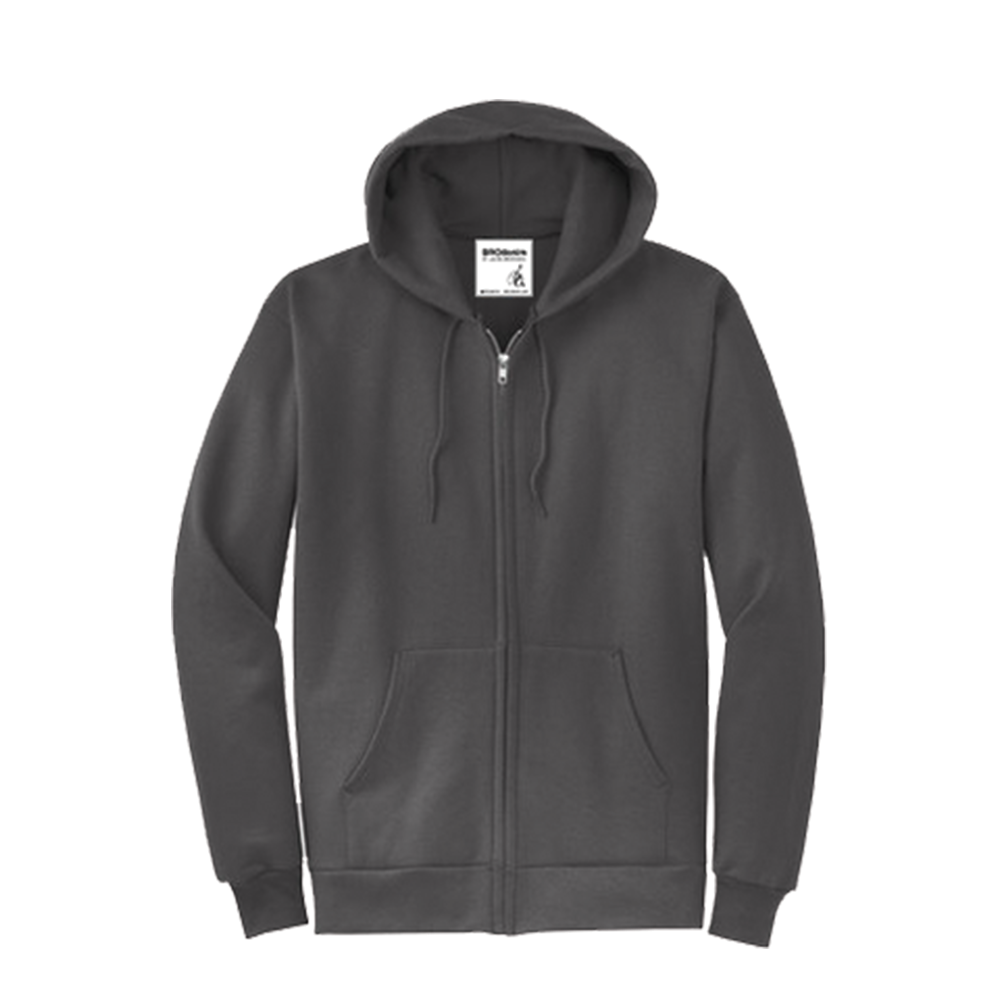 Zip-Up Hoodie - ADULT[S - 4XL]Youth [XS-XL]50/50 cotton/poly fleeceAir jet yarn for a soft,pill-resistant finish