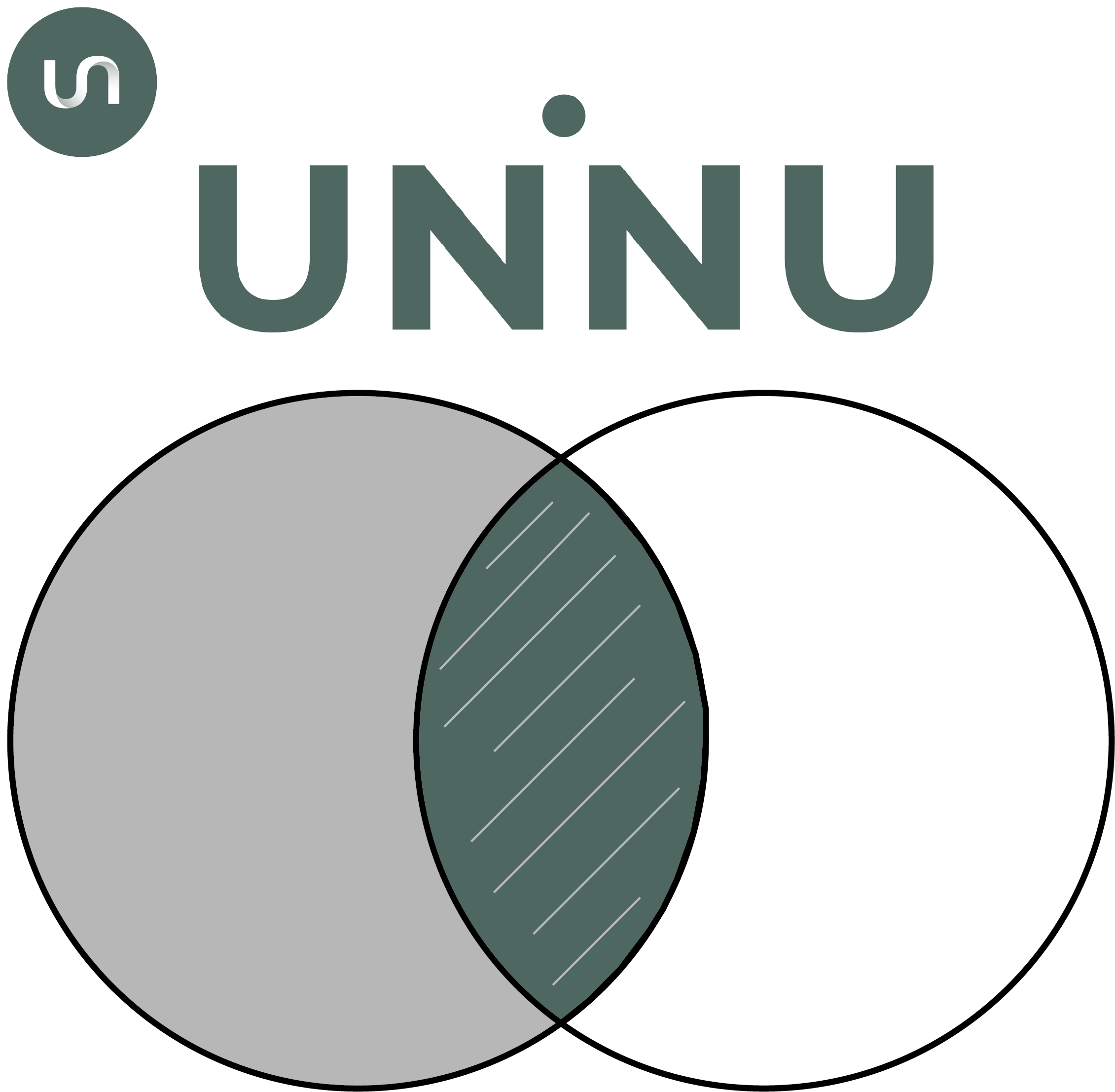- The name UNINU Communications was inspired by the Union and Intersection concepts in a Venn diagram where two circles overlap - represented as ∪ and ∩.These symbols in the logo and icon are the inspiration for creating UNINU:Combining communication and science, bringing the scientist and audience together, and producing quality science communication.