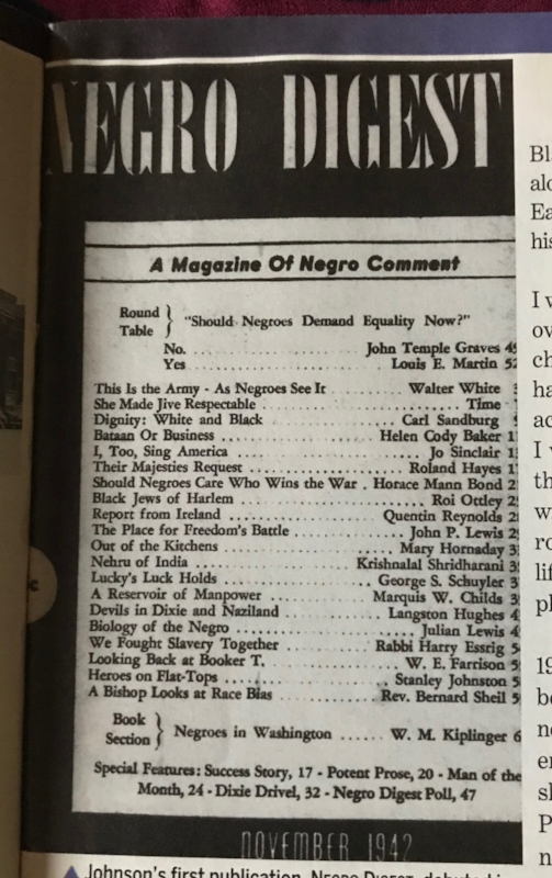 Negro Digest, November 1942