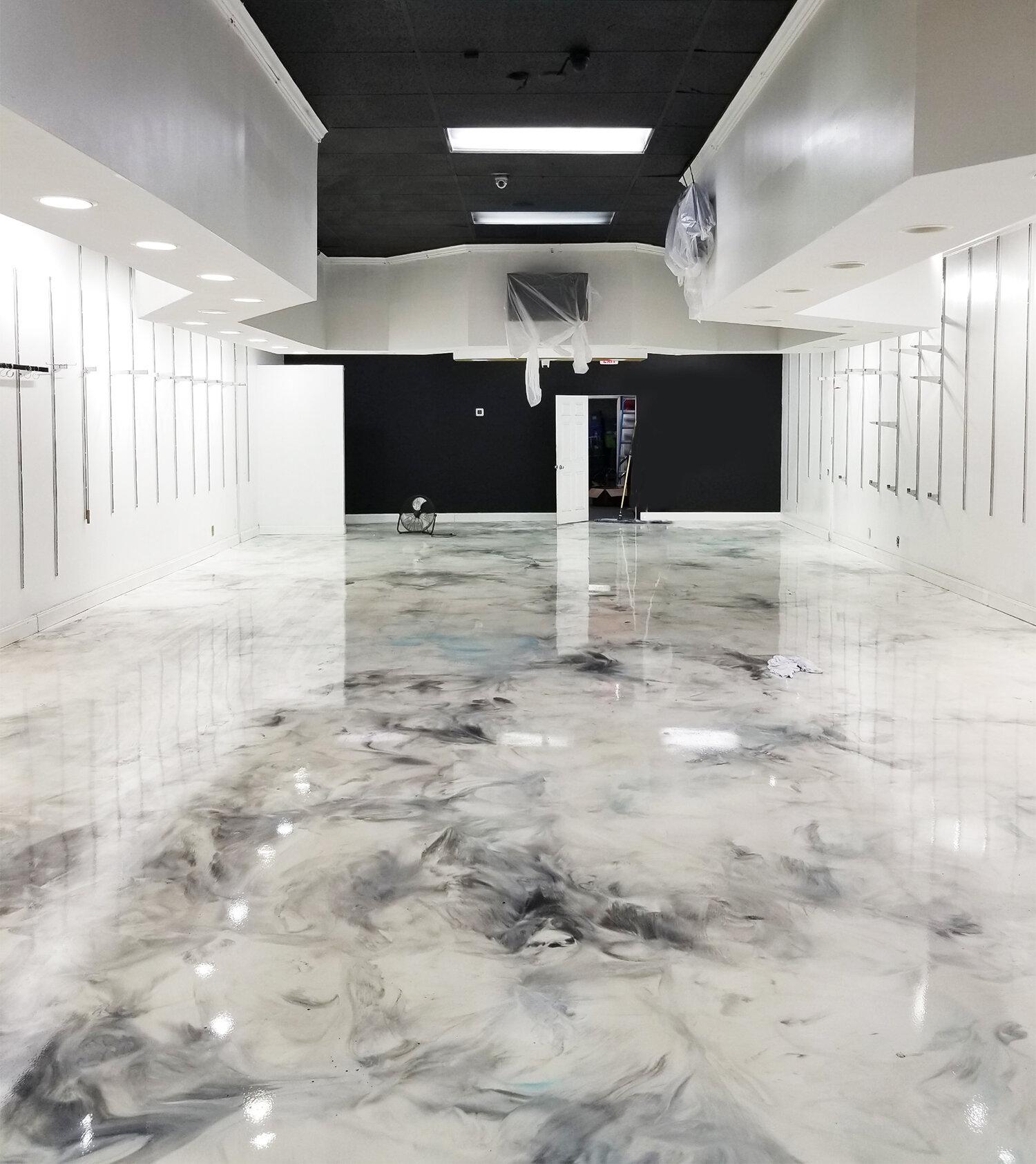 Metallic Epoxy Flooring In Atlanta Grindkings Flooring