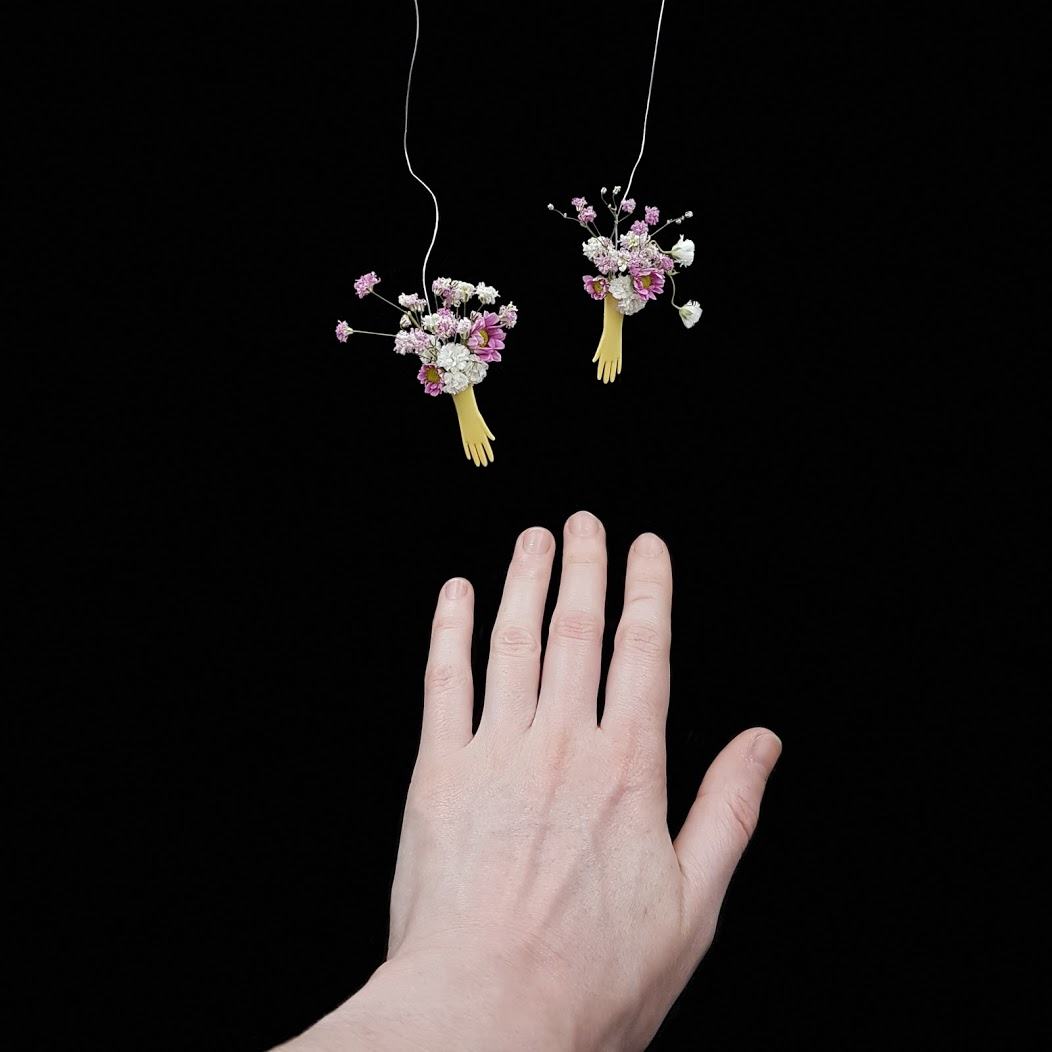 Hand with Flowers Maquette