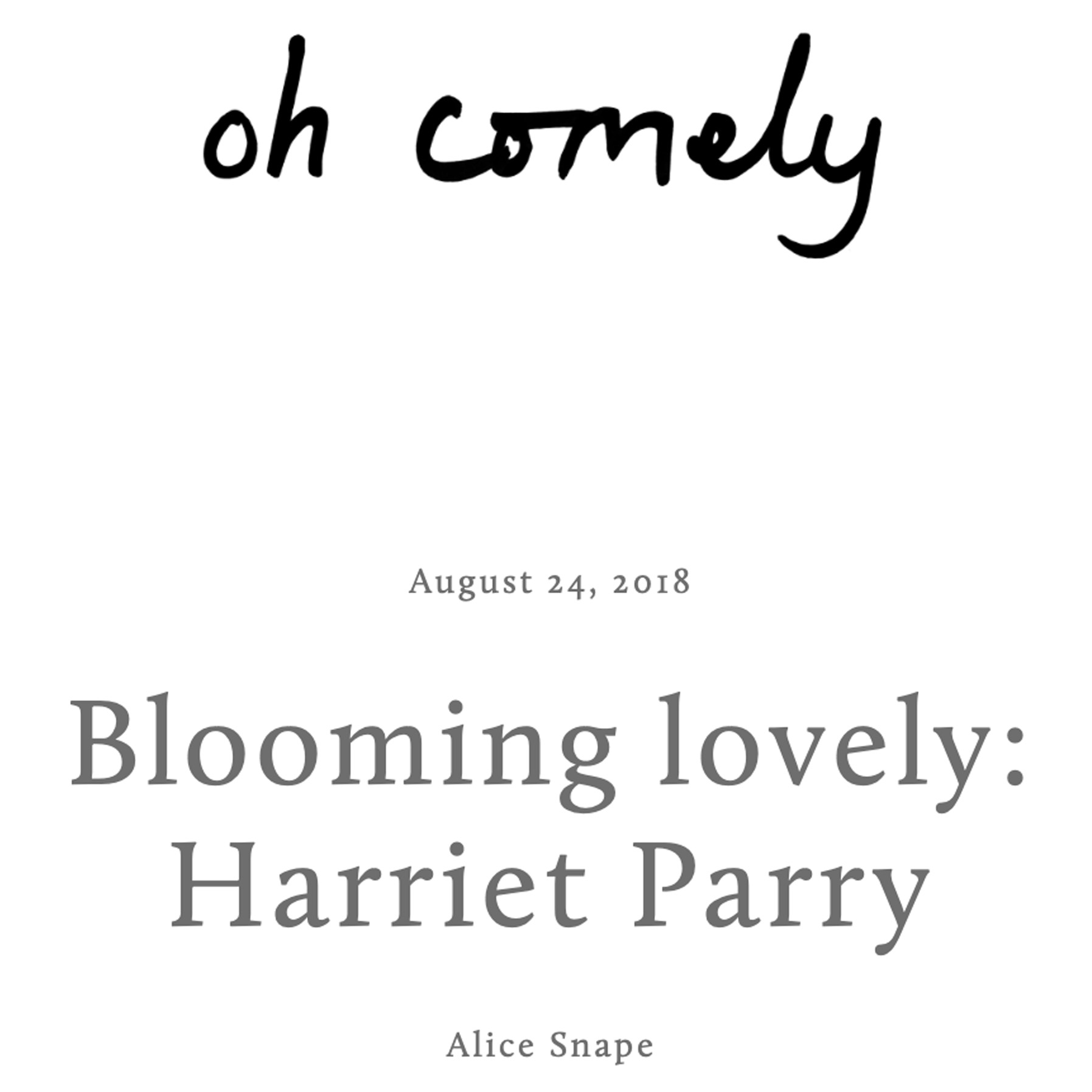 oh comely-harriet parry feature.jpg
