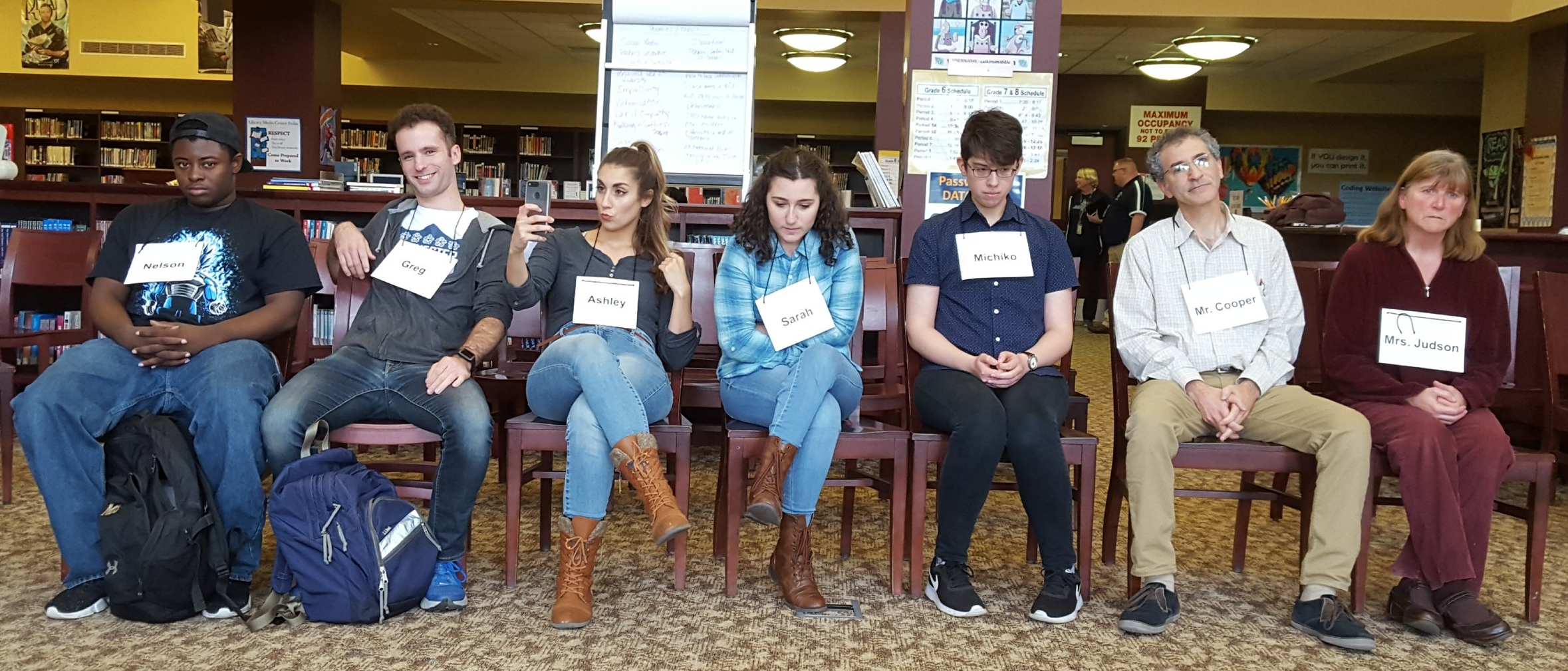 """""""Hot-seating"""" the chacters in the interactive scene, """"What We don't See"""""""