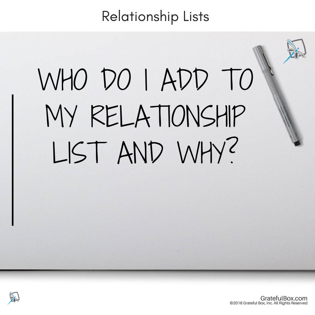 Lesson 7- Relationship Lists - Who is on your relationship list? We will teach you how to create a relationship list and nurture your relationships to create raving fans.