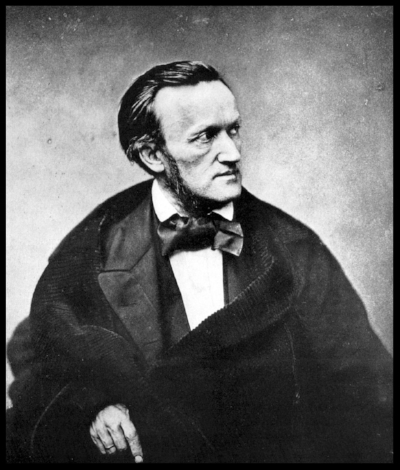 Richard Wagner, photographed the year after he visited Rossini