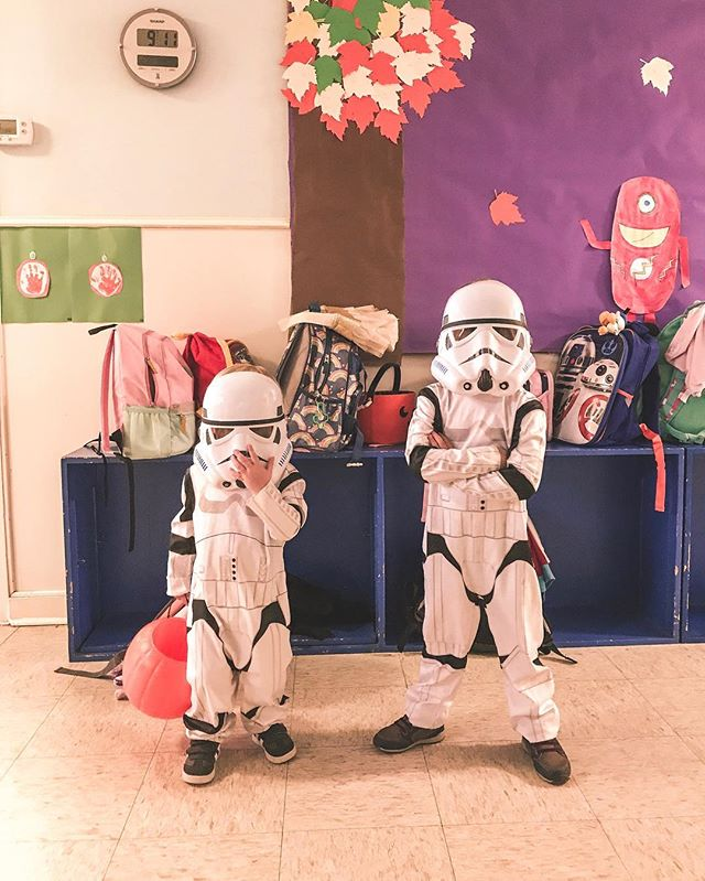 Aren't you a little short to be a Stormtrooper?  #halloween #starwars #stormtroopers #darkside #costume #prouddad #walkersampson #camallan #trickortreat
