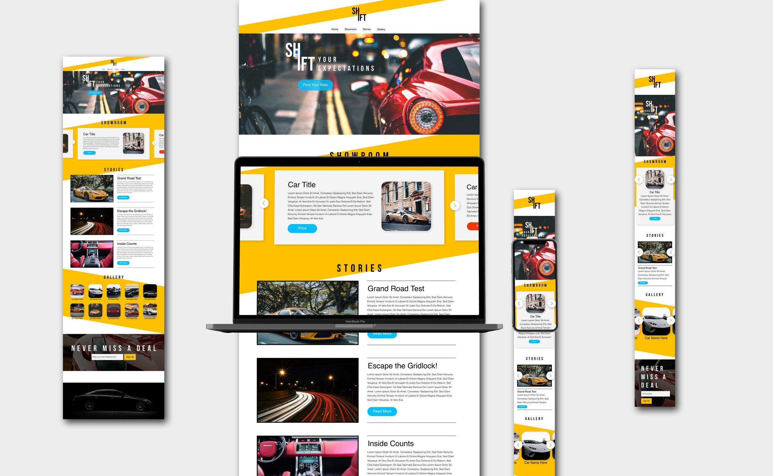 Shift Concept Website