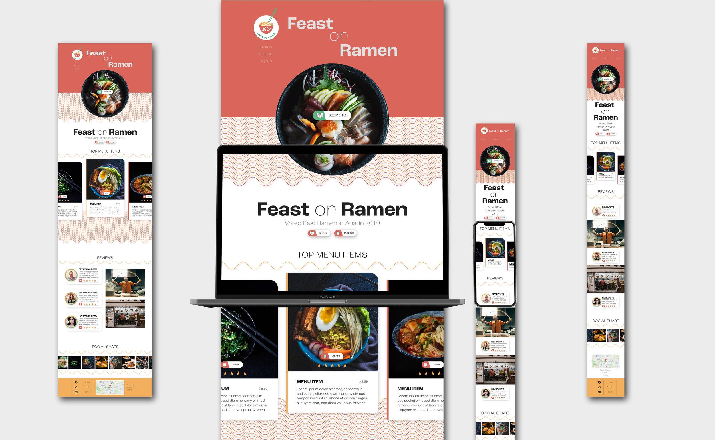 Feast or Ramen Concept Website