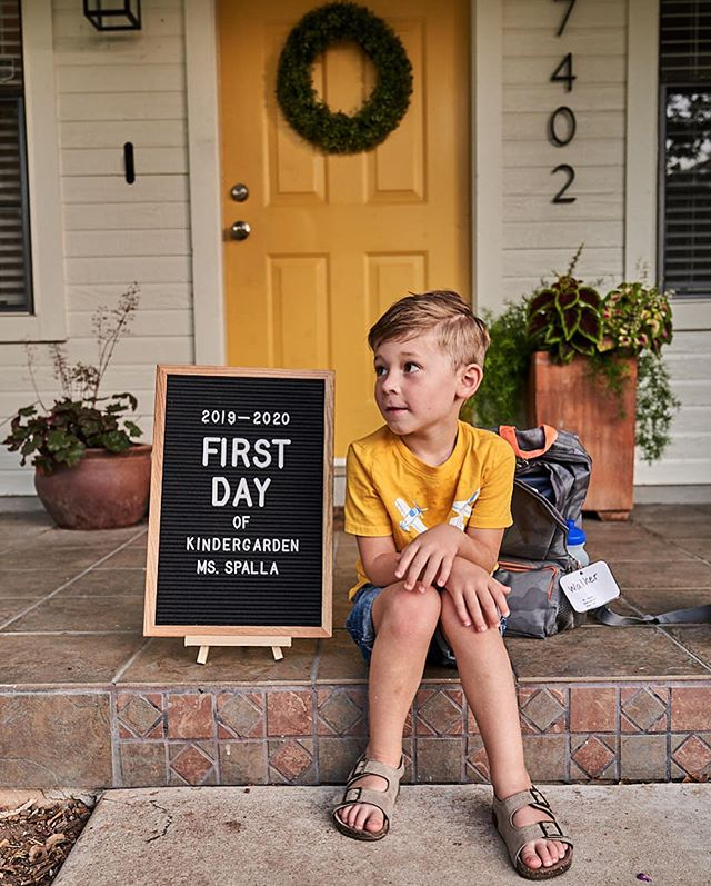 First post in a while, here's a quick recap: We moved to TX, bought a house, and sent our #walkersampson to Kindergarten... I'll try and post more often. #life #parenting #firstdayofschool #kindergarten #growingup #texas