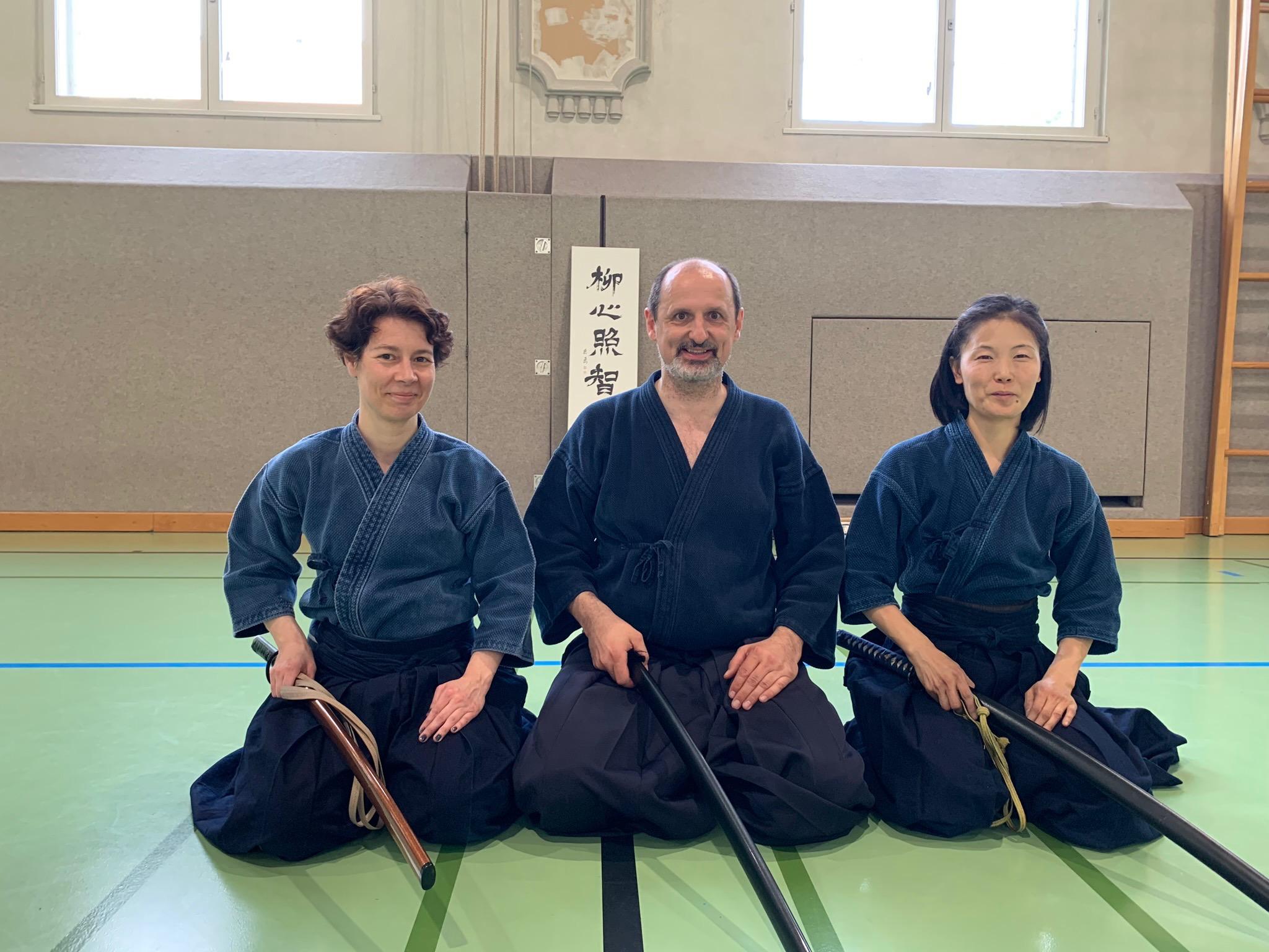 Das Lehrerteam: Elisabeth Fürst, Wolfgang Fürst und Akiko Kikuchi