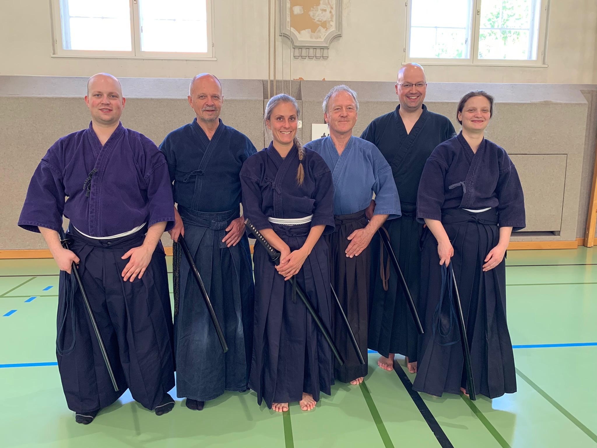 vlnr: Matthias, Werner, Ursi, Norbert, Gernot und Michaela