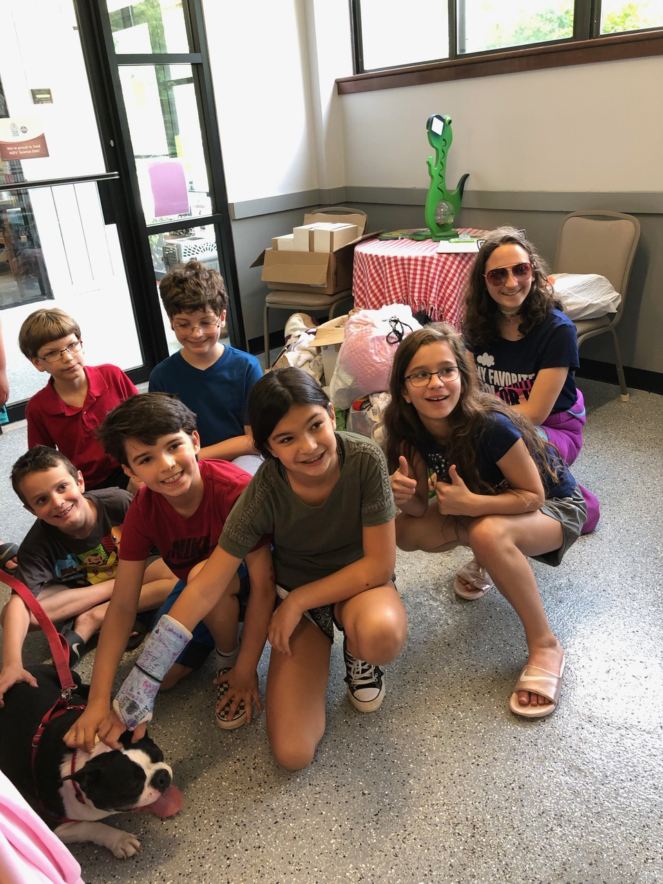Religious School students helping out at the SPCA