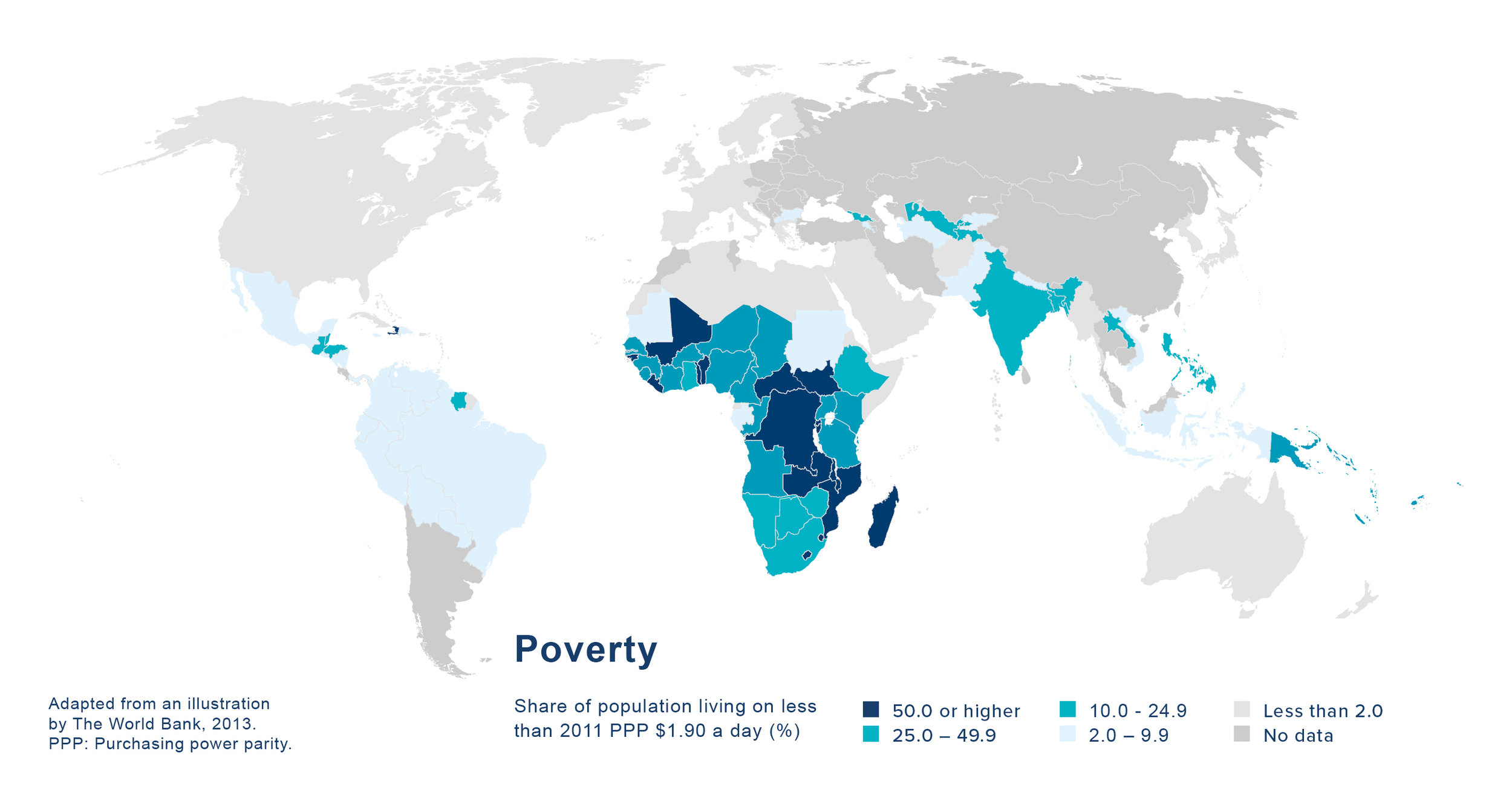 Global Poverty Distribution Map