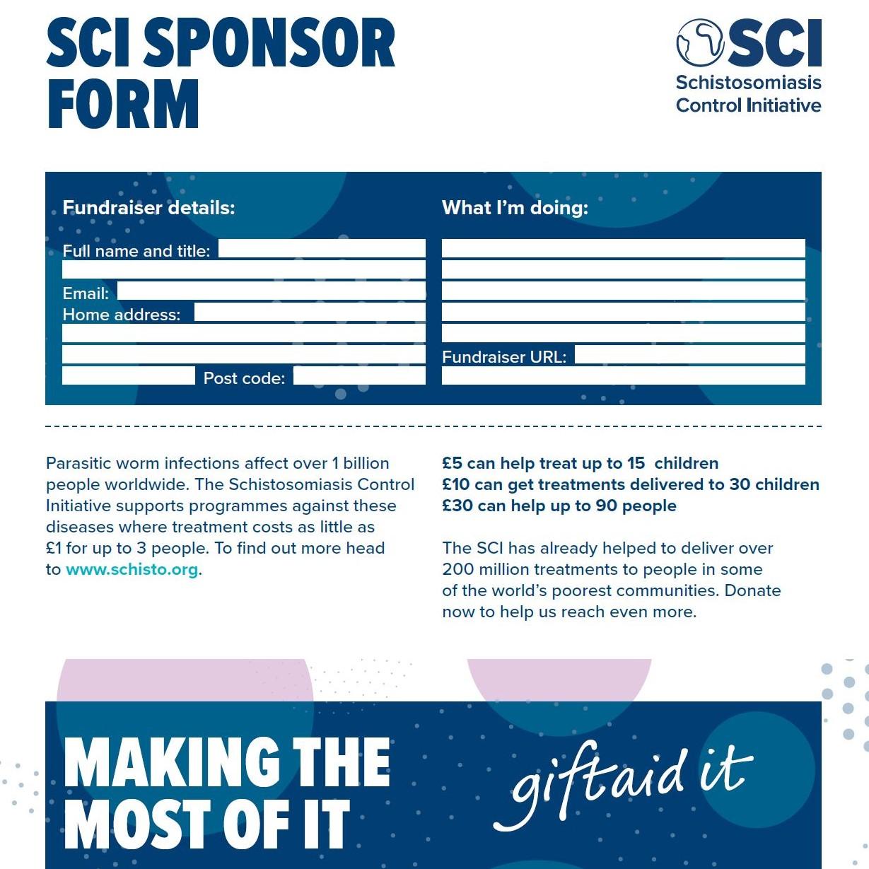 sponsorship form -