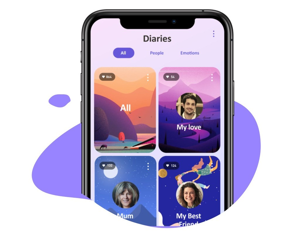 Keep and organize them in personal diaries - Don't lose your best chat messages anymore. Secure and organize them in personal diaries and label them by emotions.