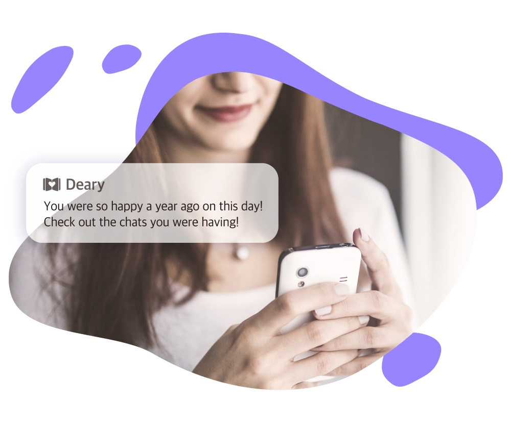 Happened today… - Take a moment everyday for yourself. Re-read a piece of your story with Deary's notification and share it with your friends.