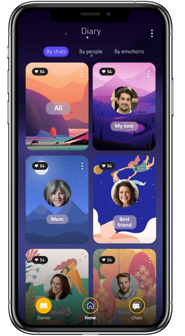 deary ios app screen mockup full size