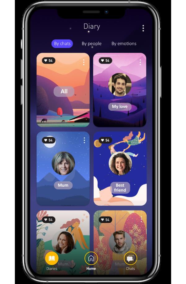 deary app main iphone mockup