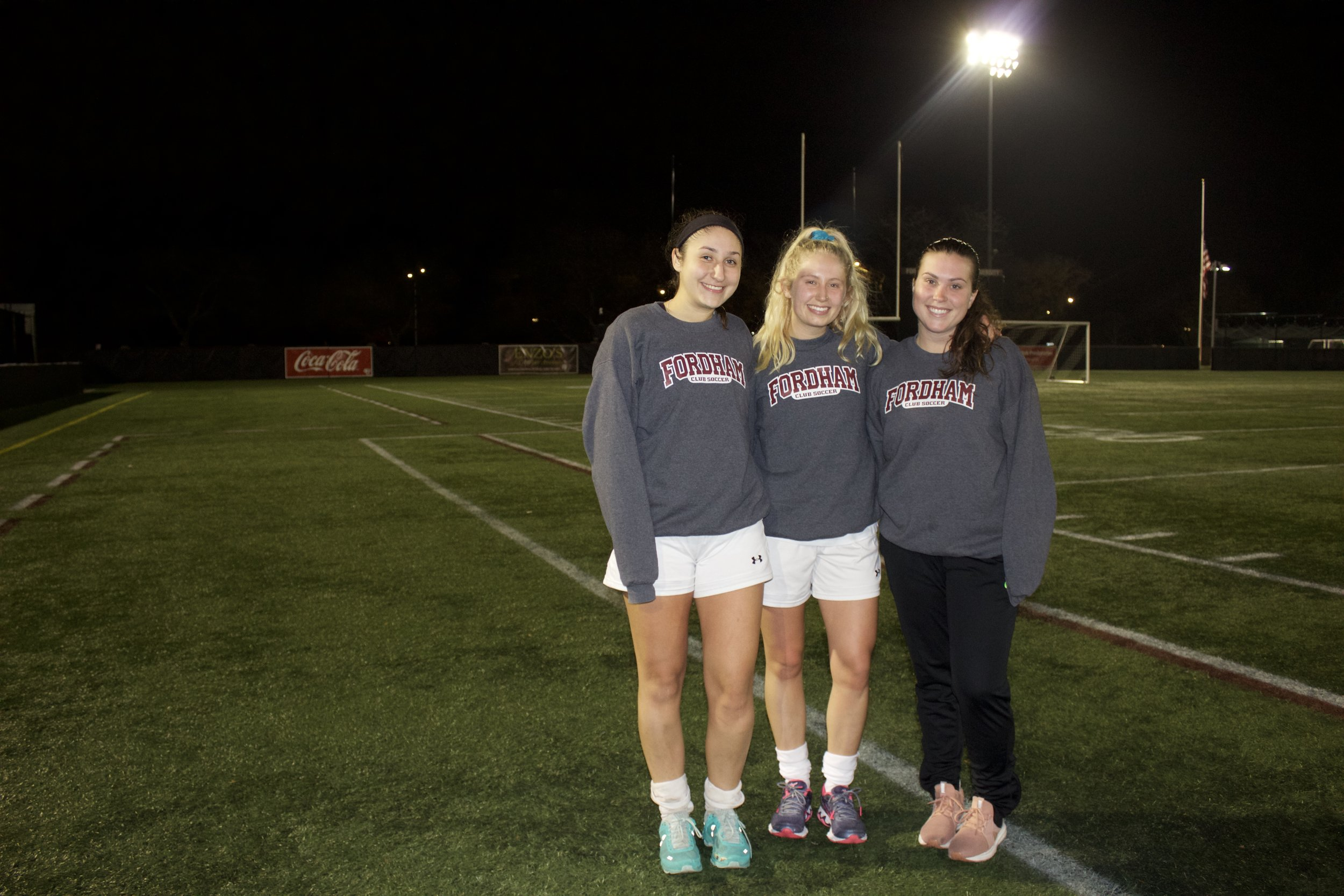 Lauren Regan with past teammates Brittany Kouroupas and Fiona Shea.